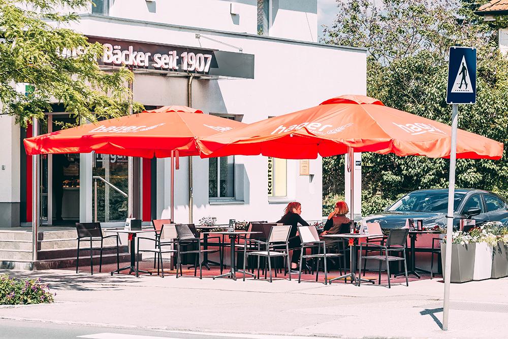 Draußen genießen in der Josefstraße