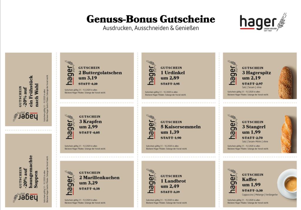 Bäckerei Hager Genuss-Bonus im Jänner 2020