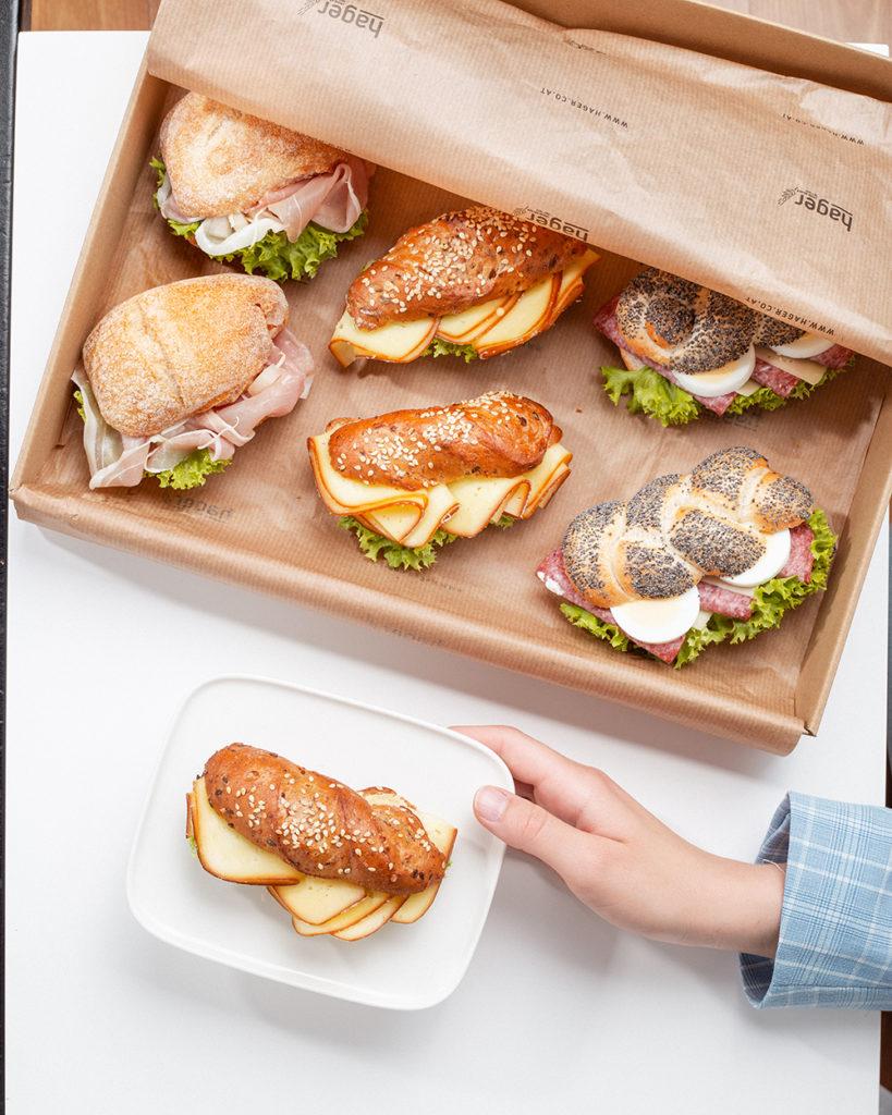 Bäckerei Hager Genusspause Genuss-Packages Büro